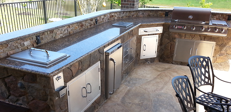 Custom Outdoor Kitchens Bbq Islands Designs Around Victor Pittsford Finger Lakes